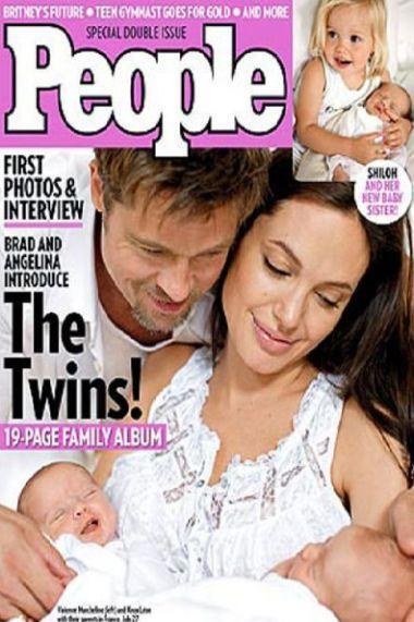 i gemelli di Brad Pitt e Angelina Jolie