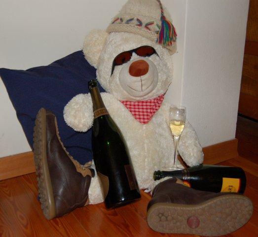 orso ubriaco con le scarpe camper