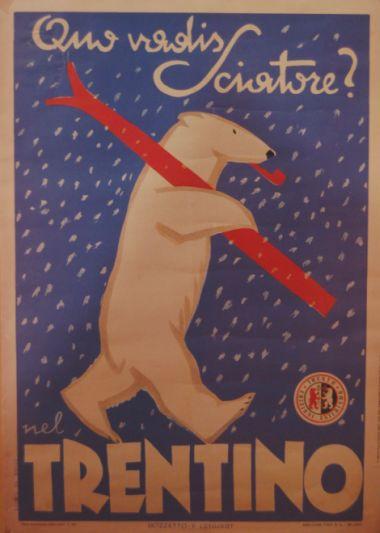 orso sciatore in Trentino
