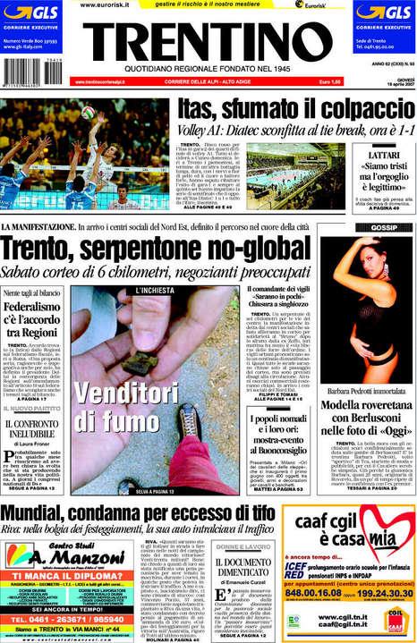 prima pagina Trentino