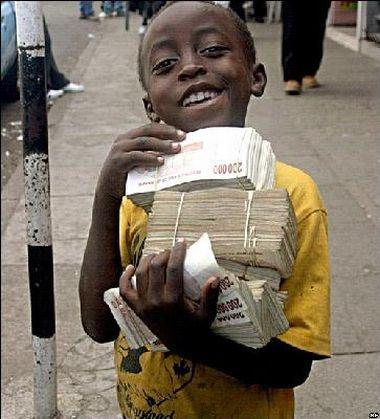 dollari e inflazione nello Zimbabwe